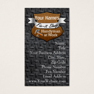 Personalized Handyman Fix-It Custom Name Business Card
