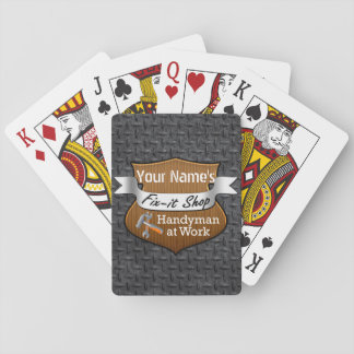 Personalized Handyman Fix-It Custom Name Poker Deck