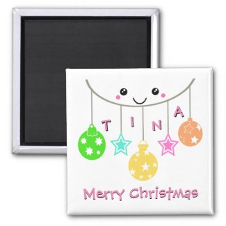 Personalized Hanging Ornaments Merry Christmas Magnet