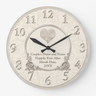 Personalized Happily Ever After Wedding Clocks