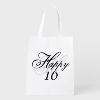 Personalized Happy 16 Reusable Bag