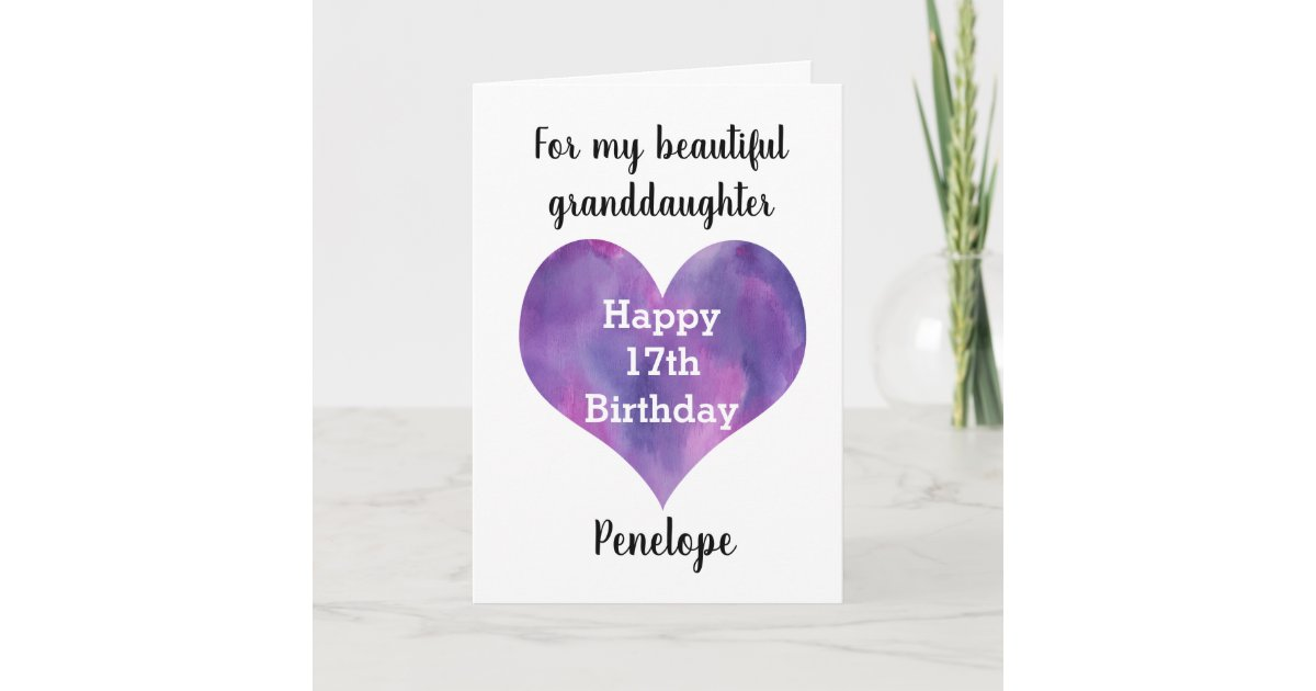 Personalized Street Signs >> Personalized Happy 17th Birthday Granddaughter Card ...