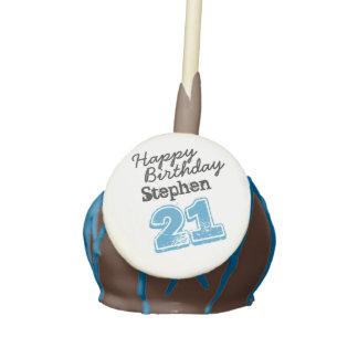 Personalized Happy 21st Birthday Cake Pops