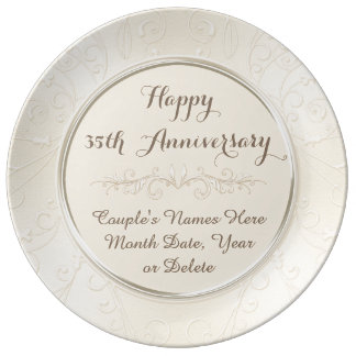Personalized Happy 35th Anniversary Gifts ANY YEAR Porcelain Plate