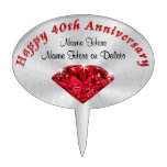Personalized Happy 40th Anniversary Cake Topper
