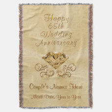 Personalized Happy 65th Anniversary Gifts Ideas Throw