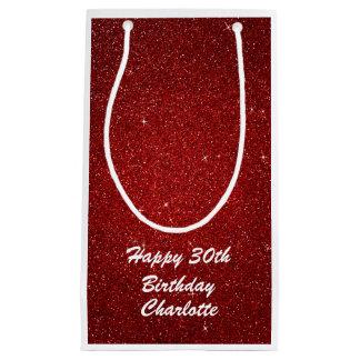 Personalized Happy Birthday Bag - Wine, Glossy