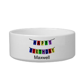 Personalized Happy Birthday Banner Bowl