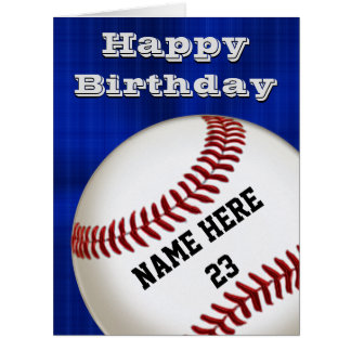 PERSONALIZED Happy Birthday Baseball Cards