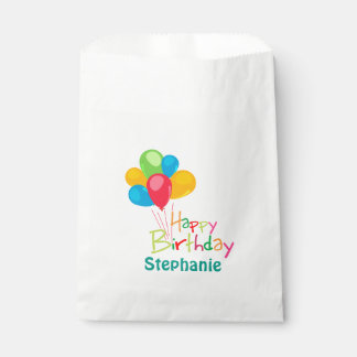 Personalized Happy Birthday Favor Bag