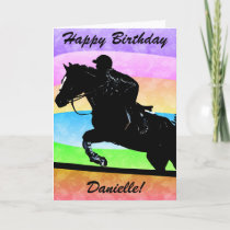 Personalized Happy Birthday Horse Card