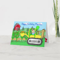 Personalized Happy Birthday Little Boy's Card