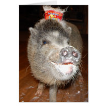 Personalized Happy Birthday Mini Pig Card