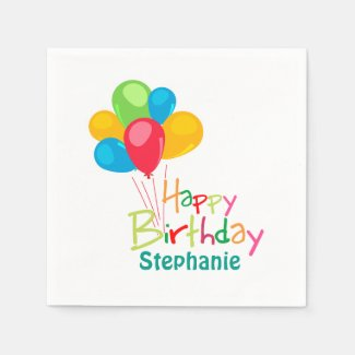 Personalized Happy Birthday Napkin