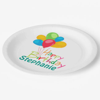 Personalized Happy Birthday Paper Plate