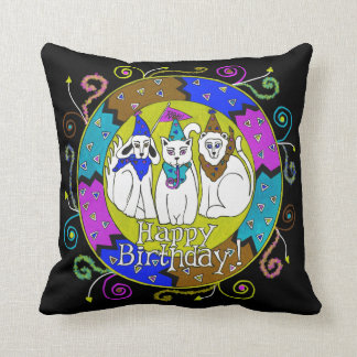 Personalized Happy Birthday Party Animals Pillow