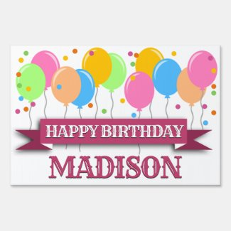 Personalized Happy Birthday Sign