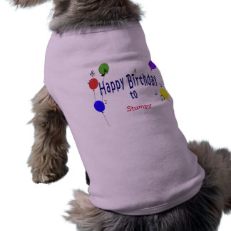 Personalized Happy Birthday to ... Song Doggie Tee