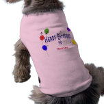 Personalized Happy Birthday to ... Song Pet Clothes
