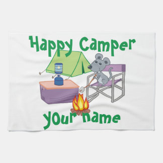 Personalized Happy Camper Kitchen Towel