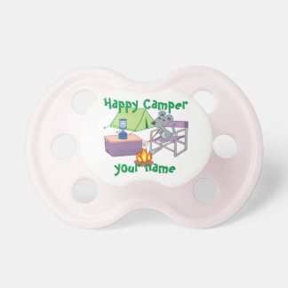 Personalized Happy Camper Pacifiers