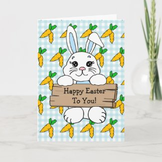Personalized Happy Easter and Deviled Eggs Recipe Card
