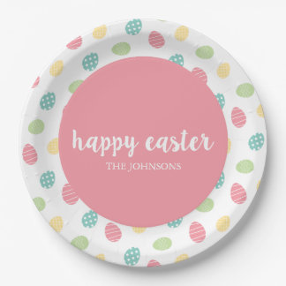 Personalized Happy Easter Egg Paper Plates