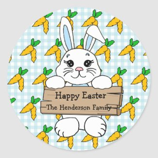 Personalized Happy Easter to you Stickers