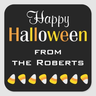 Halloween Themed Personalized Happy Halloween Candy Favor Stickers