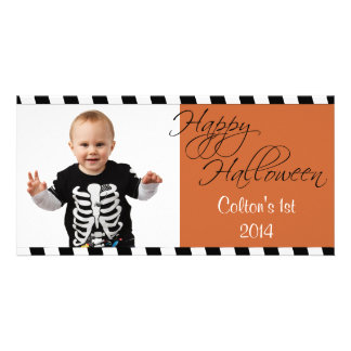 Personalized Happy Halloween Greetings Photo Card