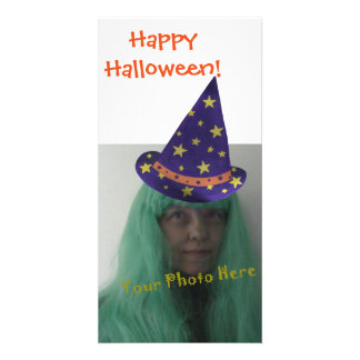 Personalized Happy Halloween Wizard Photo Cards