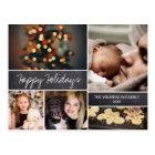 Personalized, Happy Holidays, Chalkboard, Photo Postcard