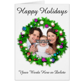 Personalized Happy Holidays Holiday Photo Card