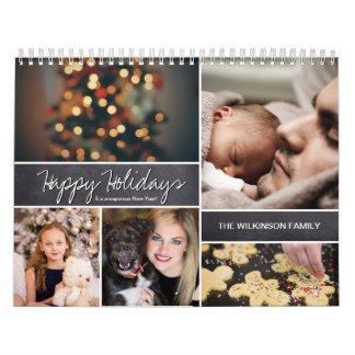Personalized Happy Holidays, New Year, Photo Calendar