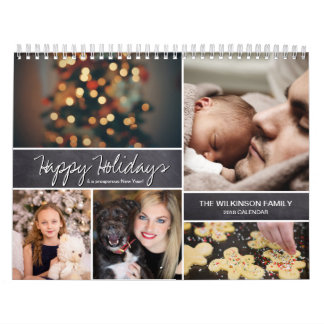 Personalized Happy Holidays, New Year, Photo Calendar