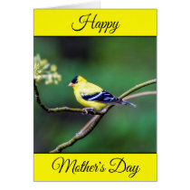 Personalized Happy Mother's Day Goldfinch Card