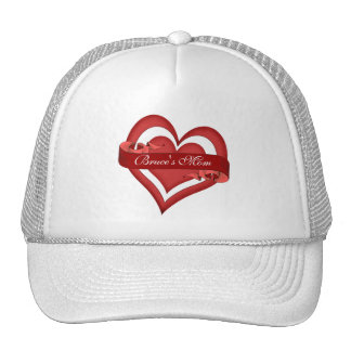 Personalized Happy Mother's Day Heart Mom Trucker Hat