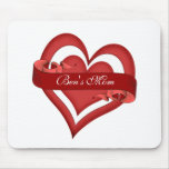 Personalized Happy Mother's Day Heart Mom Mouse Pad