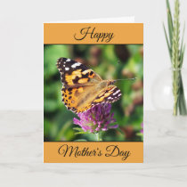 Personalized Happy Mother's Day Painted Lady Card
