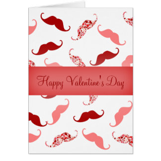 Personalized Happy Valentine's Day Mustaches Card