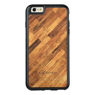 Personalized Hardwood Wood Grain Monogram Name OtterBox iPhone 6/6s Plus Case