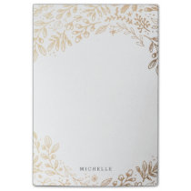 Personalized | Harvest Flowers Post-it Notes