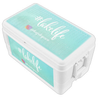 Personalized Hashtag Lake Life Can Cooler