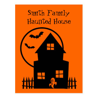 Personalized Haunted House Announcement Postcard
