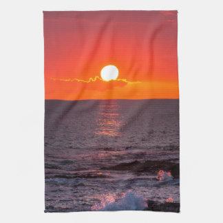 Personalized Hawaii Beach Ocean Tropical Sunset Hand Towel