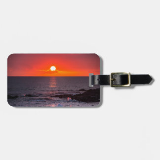 Personalized Hawaii Beach Ocean Tropical Sunset Luggage Tag