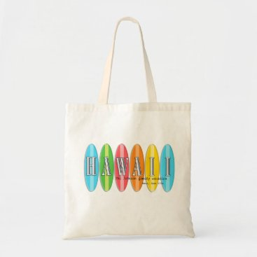 Beach Themed Personalized  Hawaii Family Vacation Tote