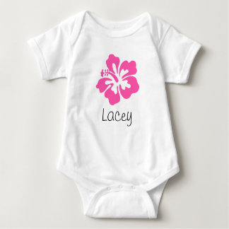Personalized Hawaiian Flower Hibiscus Pink Infant Creeper