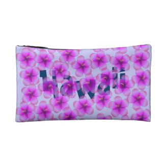 Personalized Hawaiian Hibiscus Makeup Bags