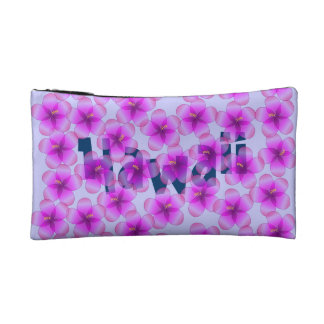 Personalized Hawaiian Hibiscus Cosmetic Bags